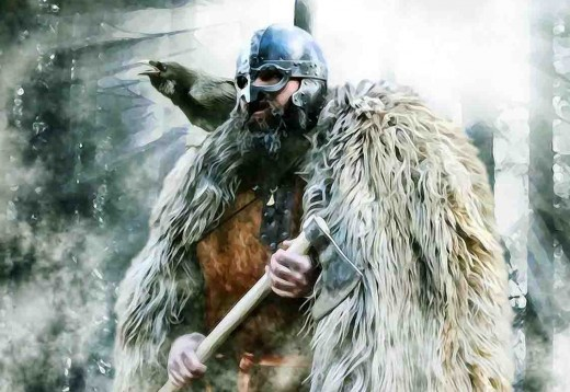 Eirik Haraldsson, 'Blood-axe'. His reign in Norway was cut short after the murder of his half-brothers. He came to Jorvik late in the 10th Century to rule briefly. His reign was broken but he came back for a year, to be waylaid on Stainmore Common