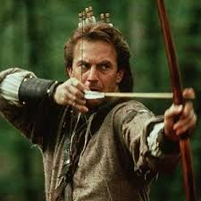 Kevin Costner in one of the Robin Hood film adaptations