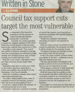 Whitstable Campaign: Council tax support cuts target the most vulnerable