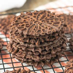Dark Chocolate Pizzelle
