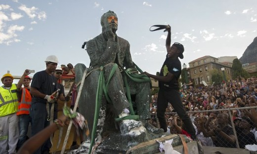 Vandalism of apartheid-era statues, South Africa
