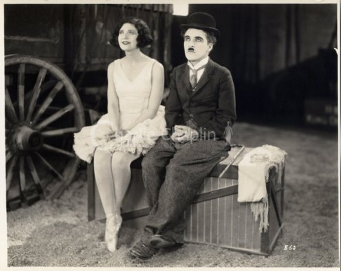 Merna Kennedy and the  great Charlie Chaplin