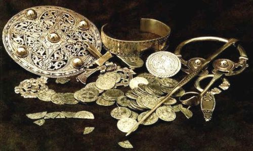 Numerous hoards of coins from as far away as Baghdad, gold, silver artefacts, hand-crafted ornaments and drinking vessels have been found around the British Isles, their owners scattered to the winds or fate