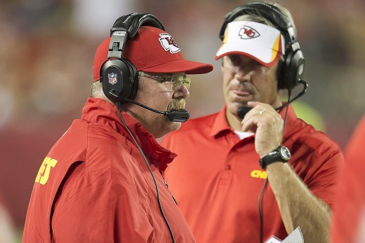 Ex-Eagles Head Coach Andy Reid (L) and new Eagles head coach Doug Pederson (R) have much in common