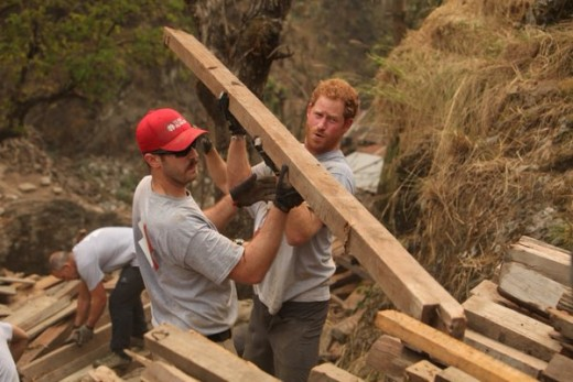 Prince Harry joins Team Rubicon to support Earthquake-relief project in Nepal