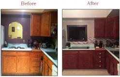 How to Sand & Stain Old Kitchen Cabinets (DIY) - Modernize Your Living Space!