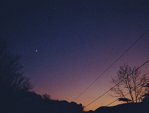 While the moon might be dark, you could always gaze at the stars.