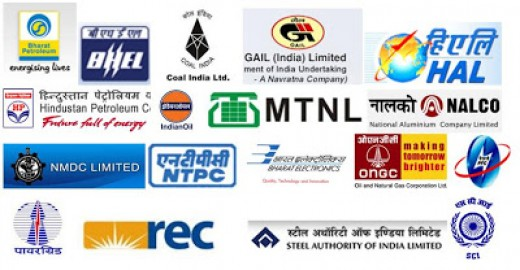 Most Valuable PSUs (Public Sector Undertakings) of India. The companies logo shown in this picture are those companies which are responsible for generating most of the revenue for the nation.
