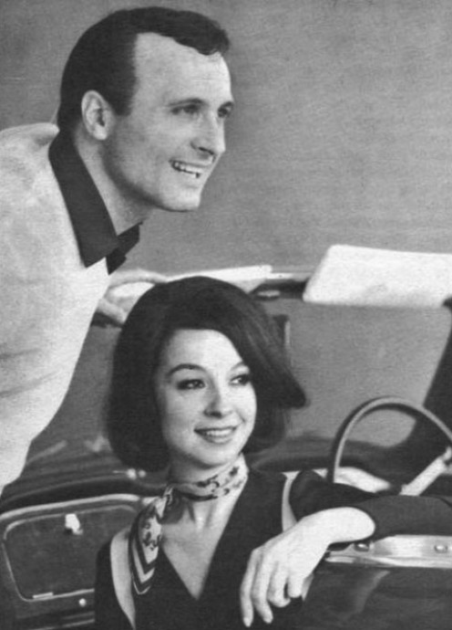 April and Nino during a publicity shot  in 1965