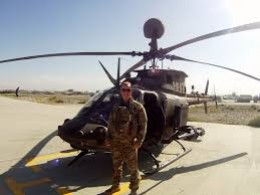 Man and helicopter