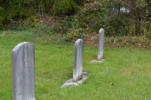 Gravestones erected in memory of my ancestors cremated in the village