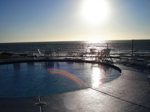 The Pool overlooking the Ocean at my timeshare in Del Mar, CA