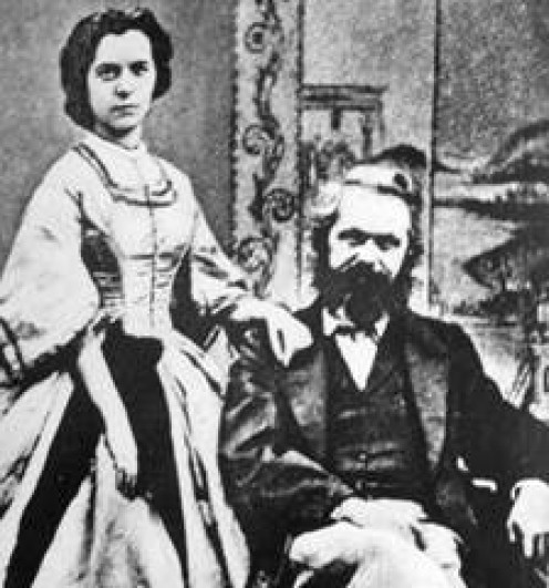 Karl and Jenny Marx expressed their affection for each other through love letters.