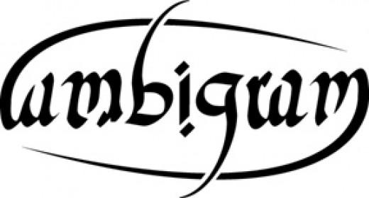 An ambigram of 'ambigram'.