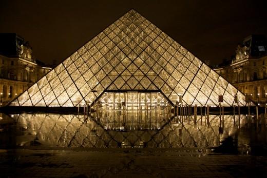 Louvre Glass Pyramid ; Paris, France