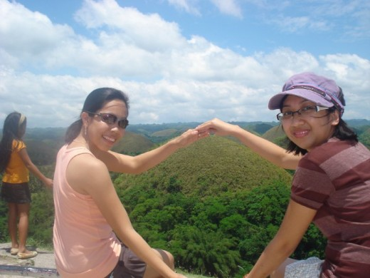 Chocolate Hills with my friend Irene