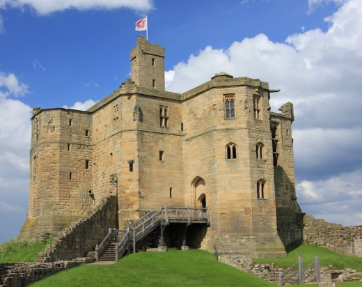 One of the largest and strongest fortresses in Northumberland - Warkworth Castle