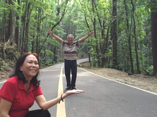 Before I forget, this is a photo of my parents along the man-made forest. You will still see this along the way to the Chocolate Hills.