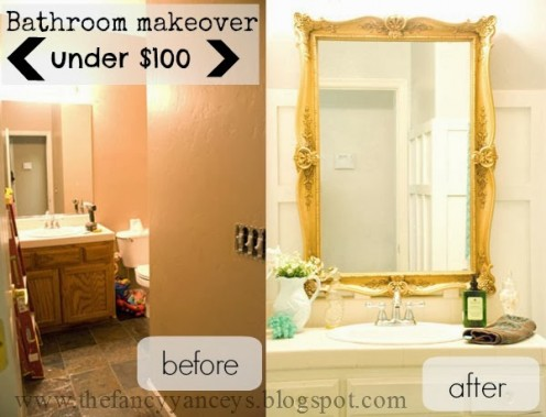 This mirror really completes the space, and the frame really makes it a beautiful vanity.