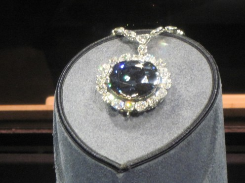 The Hope Diamond at the National Natural History Museum in Washington D.C.