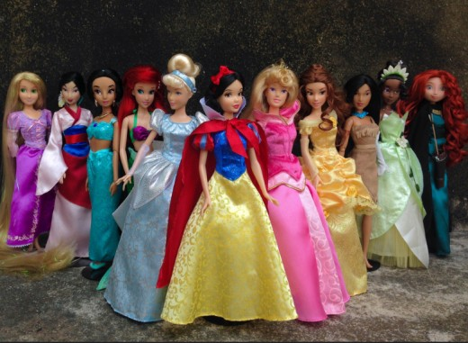 While the Disney princesses have become more diverse ethnically and racially, they still represent an unrealistic ideal of female beauty — super thin, big breasts, and tiny waists.