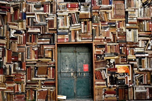 Books Seem to Have Been a Dear Companion  everywhere---in every Room, on every Bench of a Park, on every Beach...