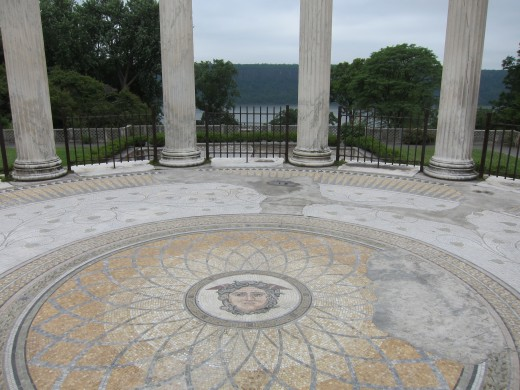 Untermyer Park is a former estate overlooking the Hudson River. Classical gardens and elaborate tile frescos make for an interesting if eerie experience.