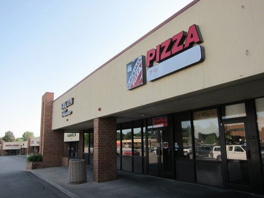 Eric and Dylan worked at this Blackjack Pizza in a strip mall near Columbine High School.