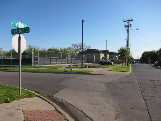 Oswald shot officer J. D. Tippit at the intersection of Tenth Street and Patton Avenue. Today there is a tennis court, and a plaque marking Tippit's murder.