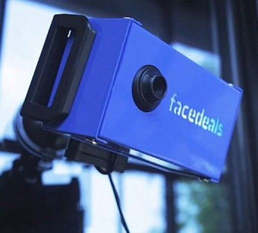 A Tennessee based company has made an app that businesses can buy along with this camera for facial recognition to offer you specials.