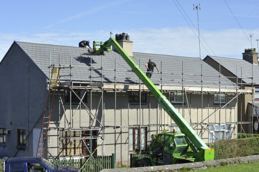 House re-roofing.