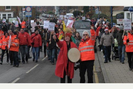 Postal workers protest