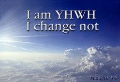 God does not change