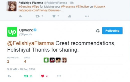 Upwork's reply to this Article (Hub)
