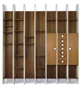 Ettoree Sottsass designed this wall-hung bookcase for a specific project in 1965