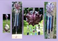 PATIO ART : HOW TO MAKE STAINED GLASS WIND CHIMES FOR YOUR HOME AND GARDEN