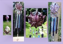 Stained glass Wind Chimes : new creations!