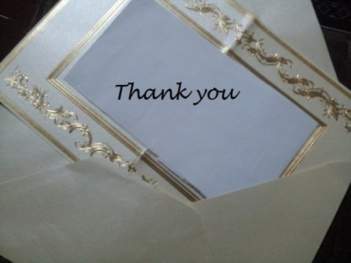 Thank You Note to a Therapist