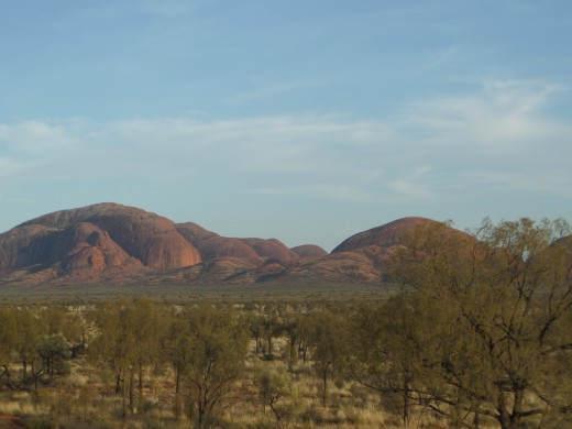 The impressive rock domes of Kata Tjuta