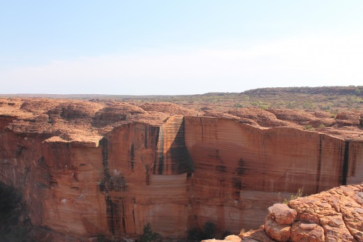 The view at the top of the rim of the Canyon