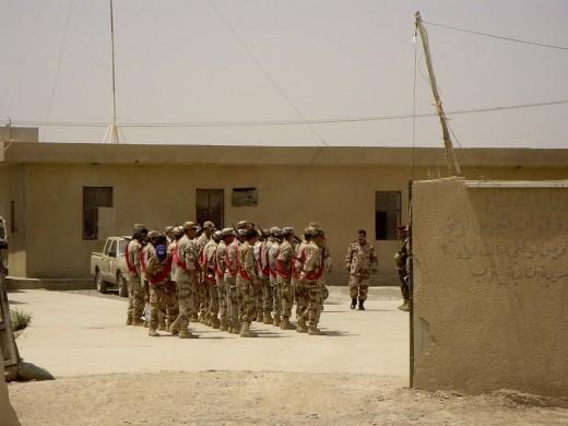 Iraqis on parade.