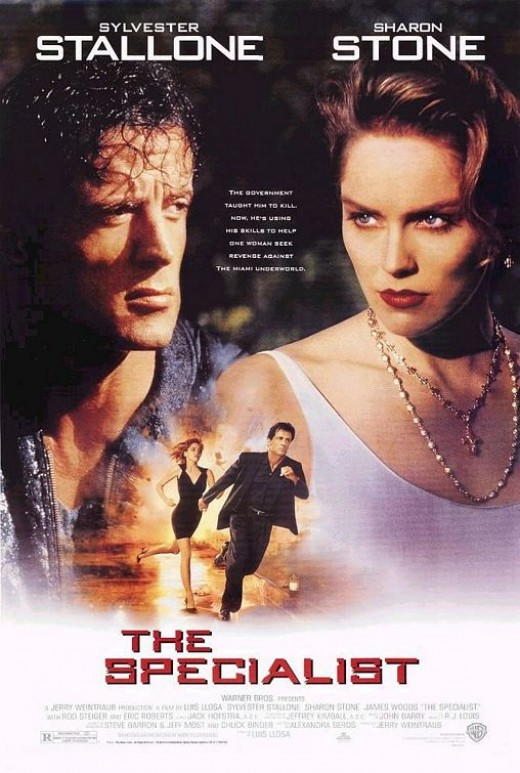 Theatrical poster for The Specialist. Property of Warner Bros. Studios