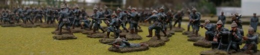 Model of German soldiers from WWI.