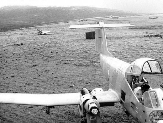 Argentinian planes on the Falklands could have been used to drop napalm on British troops.