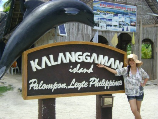 The Name of the Island - Kalanggaman Island That's me in a hat