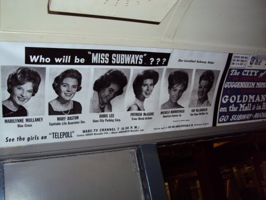 "From 1941 to 1976, the Board of Transportation/New York City Transit Authority sponsored the ""Miss Subways"" publicity campaign."