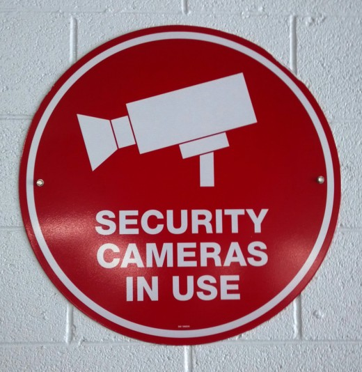 Warning signs might be effective to warn burglars that your office is secured with CCTV.