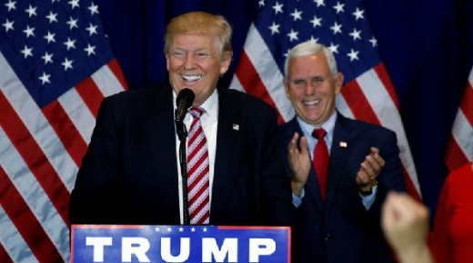 Trump and VP Elect Mike Pence