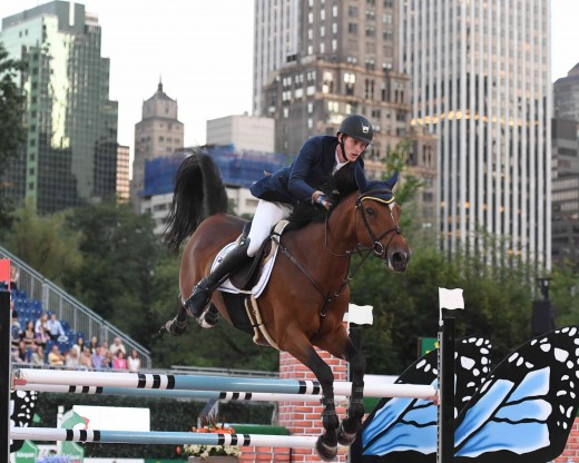 Daniel Coyle and Fortis Fortuna were the winners in the under 25 class at the Rolex Central Park Horse Show.
