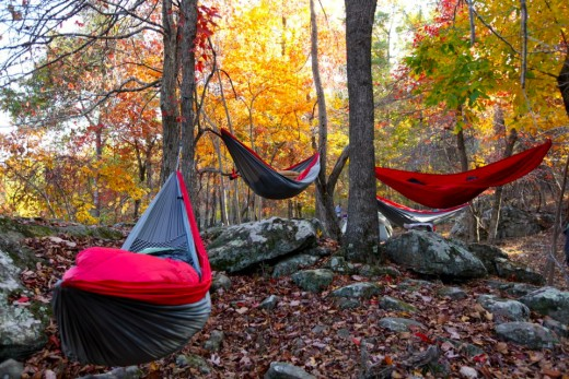 Hammocks are ideal for outdoor activities like camping, hiking and others.